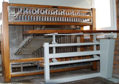 Clavier du carillon de Cappelle-la-Grande